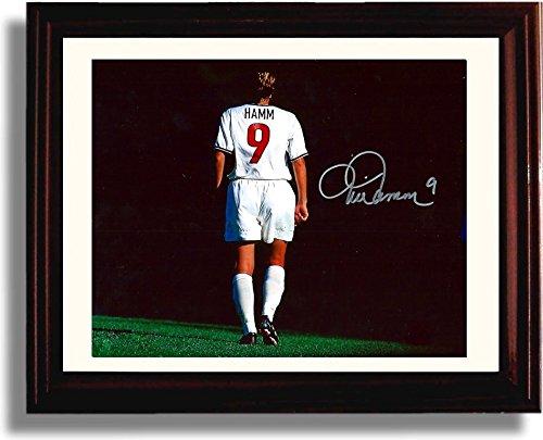 Framed Mia Hamm #9 - US Soccer Autograph Replica Print