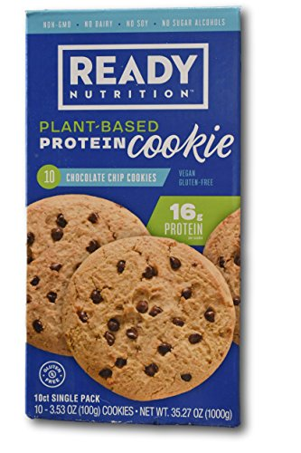 Ready Nutrition Plant Based Protein Cookie- Vegan and Gluten Free (10 x 3.53oz cookies)