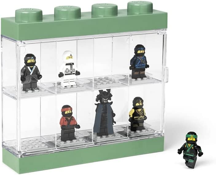 Room Copenhagen-4065 Caja expositora para 8 Minifiguras de Lego Ninjago Movie, Contenedor apilable para Pared o Escritorio, Verde, Color, 19.1 x 4.7 x 18.4 cm 40651741: Amazon.es: Hogar