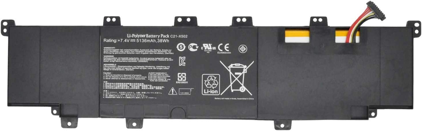 Batterymarket New 11.1V 4000mAh C31-X502 Replacement Laptop Battery Compatible with Asus Pu500c Pu500ca V500c S500ca