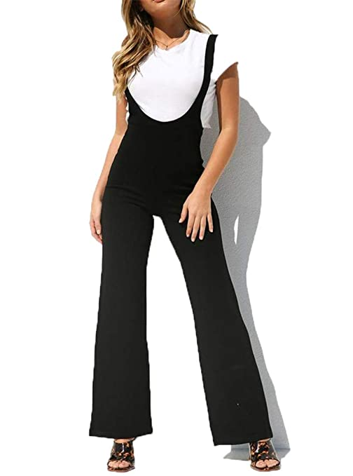 946832a24c57 YOJDTD Pantaloni con bretelle Pantaloni con bretelle da donna Pantalone con  bretelle alla moda Pantaloni con