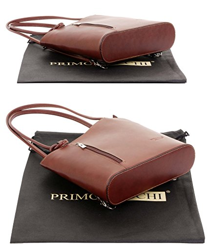 Includes Storage A Primo Pack Back Versions Shoulder Handbag Bag Made Brown Sacchi Large Italian Branded Leather Medium Hand Bag And Protective xWwx16qUSZ