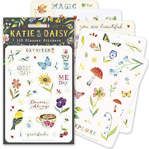 Katie Daisy Planner Stickers (6 unique sheets, 168 stickers): Daydream Pack