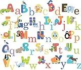 CherryCreek Decals Animal Alphabet Nursery Peel and Stick Wall Art Sticker Decals for Boys and Girls (alphabet), Baby & Kids Zone