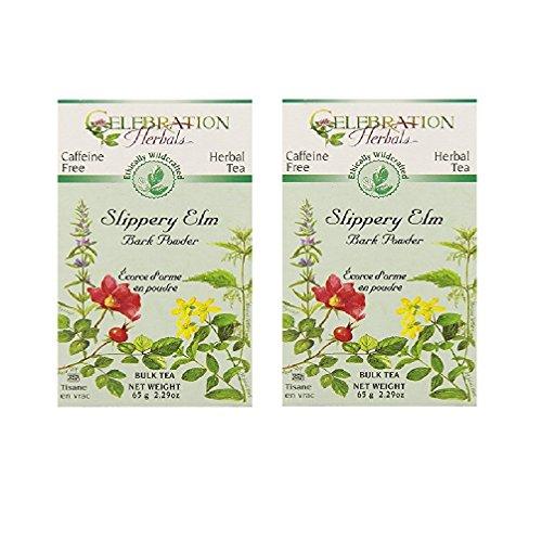 Bulk Elm Slippery (Celebration Herbals Slippery Elm Bark Powder Bulk Tea Caffeine Free -- 65 grams (Pack of 2))