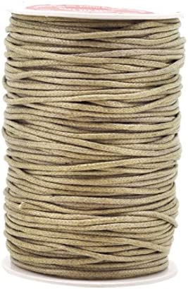 Waxed Cotton Cord Black Brown Red Jewellery twine thread  beads laces 5m x 2mm