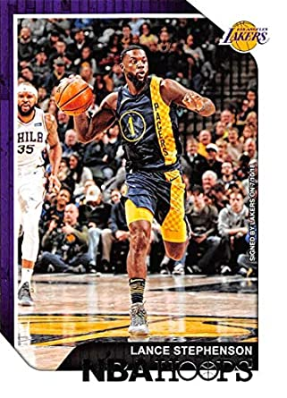 9b1f0a0122c 2018-19 NBA Hoops Basketball  232 Lance Stephenson Los Angeles Lakers  Official Trading Card