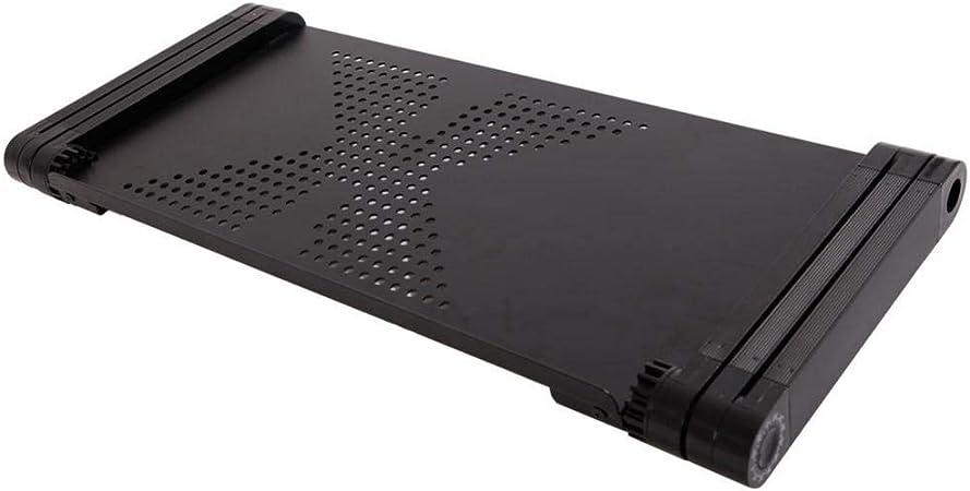 Folding Adjustable Standing Desk Ventilated Aluminum Riser Holder For Notebook