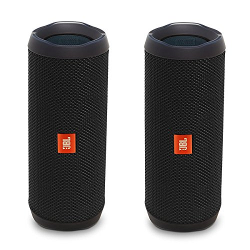 JBL Flip 4 Waterproof Portable Bluetooth Speaker, Black