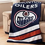 Sunbeam Edmonton Oilers NHL Heated Throw Blanket