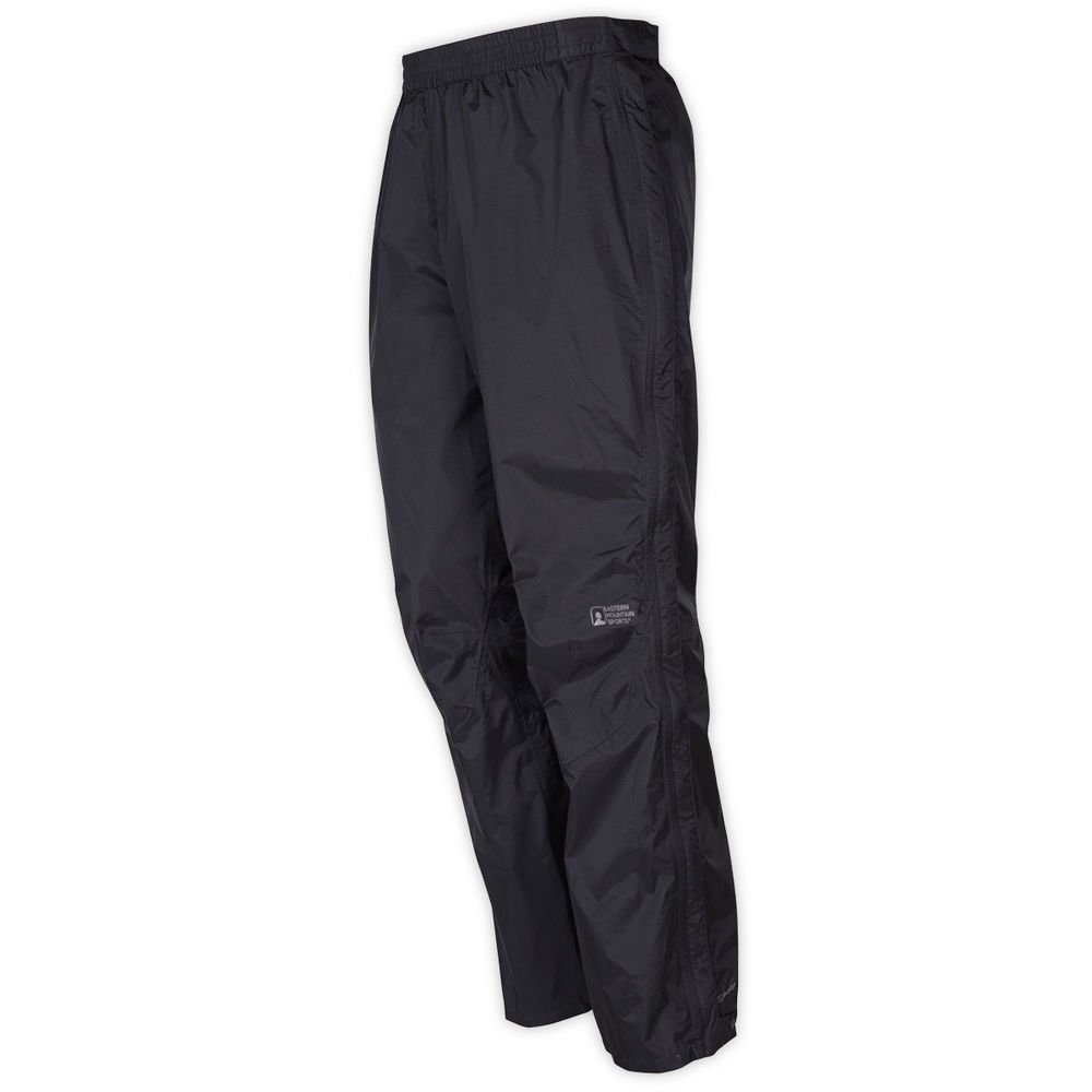 Eastern Mountain Sports EMSAr Men Thunderhead Full-Zip Rain Pants Black S/S