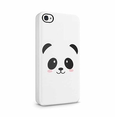 3dd166fe4e6023 DODOX Cute Kawaii White Panda Face Coque Housse Etui De Protection  Plastique Dur Ligne Profil Slim
