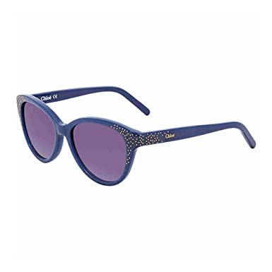660bbb76bbbe Chloe Suzanna Purple Gradient Cat Eye Sunglasses CE3605S 424 50   Amazon.co.uk  Clothing