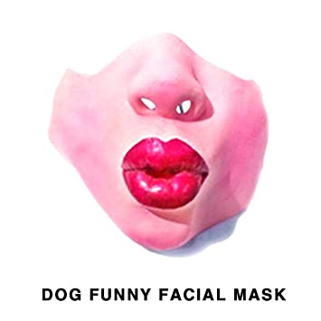 Aprettysunny Máscara de Halloween del Perro Enmascarado Uniforme Duradero Código 8 Estilo Broma Bromeando Media Máscara