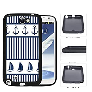 Sailboat And Boat Anchor Rubber Silicone TPU Cell Phone Case Samsung Galaxy Note 2 II N7100 hjbrhga1544