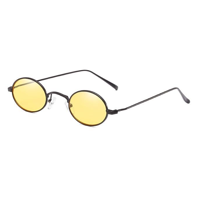 Highdas Retro Kleine Ovale Gläser Frauen Vintage Sonnenbrille Retro