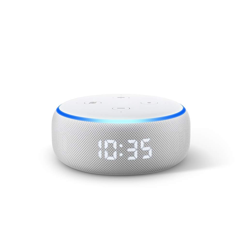 Echo Dot (3rd Gen) with clock