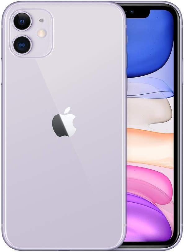 Apple iPhone 11, 64GB, Unlocked - Purple (Renewed)