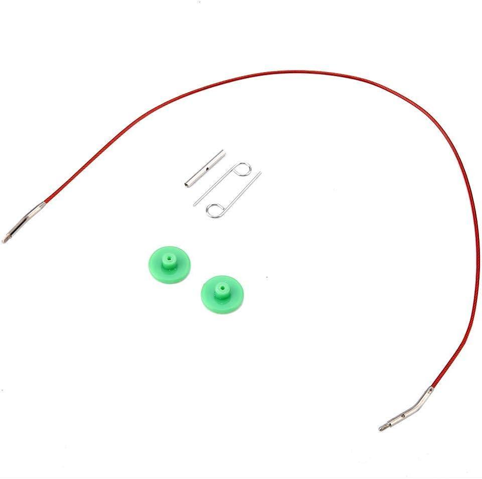 Interchangeable Knitting Kit,Interchangeable Needles Set Colorful Aluminum Circular Knitting Needles Ring Set for DIY Craft