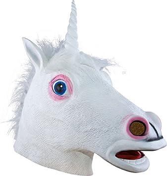 P tit payaso 21041 máscara adulto látex completo unicornio, talla única