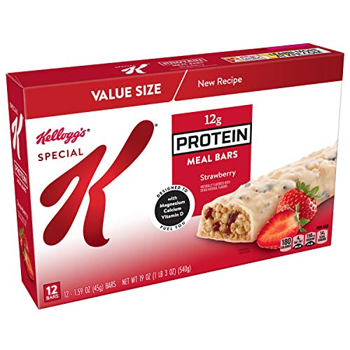 Special K Protein Meal Bars, Strawberry, Value Pack, 12 Count (Best Protein Meal Replacement Bars)