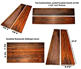 Cocobolo board set #18,47.5 inches long x 8.375 inches wide x 1.125 inches thick