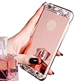 img - for iPhone 6 Case ,LA GO GO(TM) Beauty Luxury Diamond Hybrid Glitter Bling Soft Shiny Sparkling with Glass Mirror Back Plate Cover Case for Apple iPhone 6 (4.7) - Retail Packaging (Rose Gold) book / textbook / text book