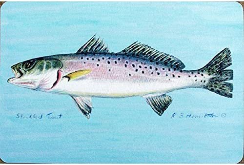 Betsy Drake Coastal Speckled Trout Door Mat, 30 x 50