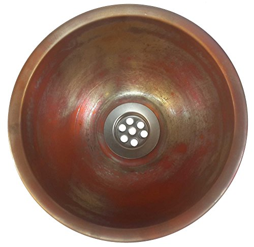 """outlet Egypt gift shops 10"""" Small Gold Inner Verdigris Outer Finish Copper Toilet Bathroom Lavatory Sink Bowl Ceiling Lighting Pendant"""