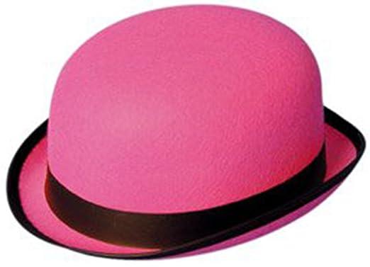 3c609870e67 Hat Bowler - Pink Felt  Amazon.co.uk  Clothing