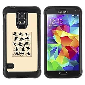 LASTONE PHONE CASE / Suave Silicona Caso Carcasa de Caucho Funda para Samsung Galaxy S5 SM-G900 / Signs Puppet Shadow Minimalist