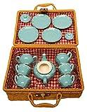 MMP Living Children's Porcelain Play Tea Set - Blue