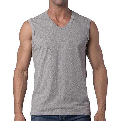 Y2Y2 Men's Sleeveless V-Neck T-Shirt/Gray/M (38