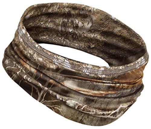 12-in-1 Cooling Headwear - UPF 30 Versatile Outdoors & Daily Headwear - 12 Ways to Wear Including Headband, Neck Wrap, Bandana, Face Mask, Helmet Liner. Performance Moisture Wicking (Realtree Edge)
