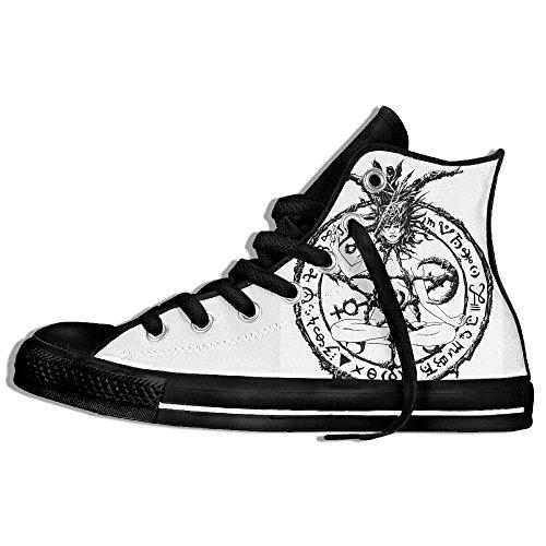 Classiche Sneakers Alte Scarpe Di Tela Anti-skid Satan Male Simbolo Casual Da Passeggio Per Uomo Donna Nero