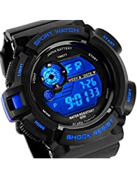 Electronic Sports Watch with LED Backlight,Water Resistant Quartz Digital Watches for Boys