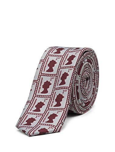 Paisley of London, Boys Royal Stamp Printed Necktie, Kids Slim Tie, One Size