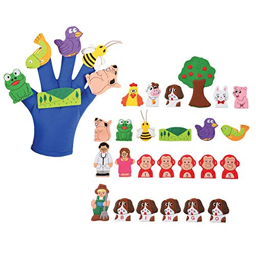 - Tell-A-Story Glove & 4 Story Puppet Sets
