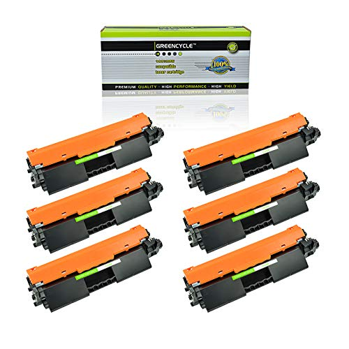 GREENCYCLE Compatible 30A CF230A Toner Cartridge Replacement for HP Laserjet Pro M203d M203dn M203dw MFP M227d MFP M227fdn MFP M227fdw MFP M227sdn Laser Printers with IC Chip (Black, 6 - 6k Toner Black