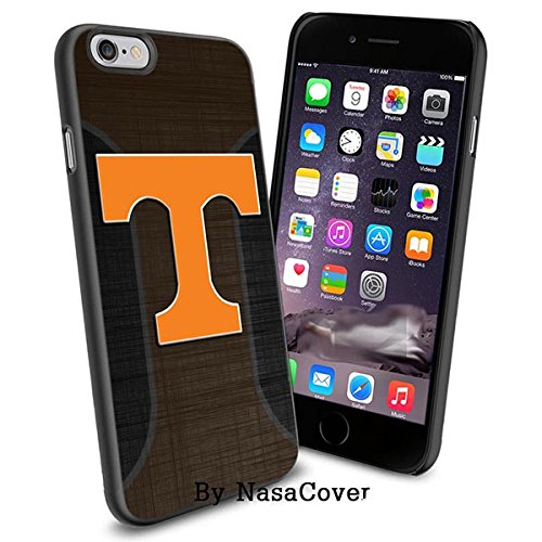(Available for iPhone 4,4s,5,5s,6,6Plus) NCAA University sport Tennessee Volunteers , Cool iPhone 4 5 or 6 Smartphone Case Cover Collector iPhone TPU Rubber Case Black [By Lucky9Cover]