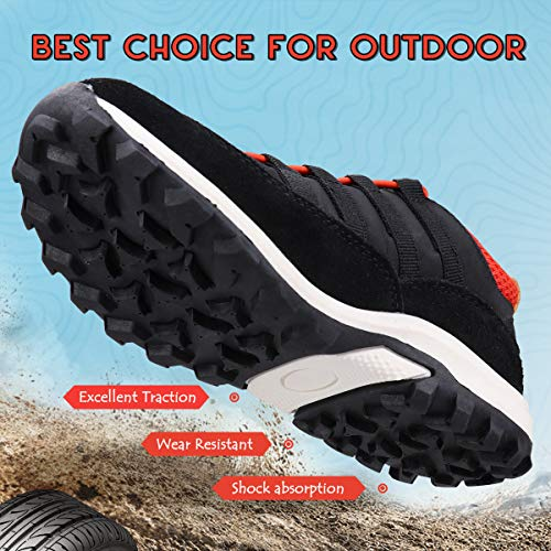 Image of UOVO Running Tennis Shoes Boys Waterproof Shoes Kids Hiking Outdoor Athletic Sneakers Slip Resistant