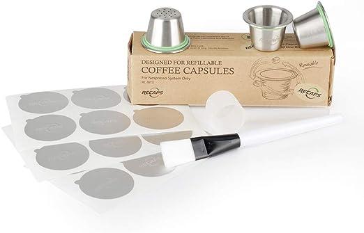 Recaps reutilizable cápsulas de Nespresso cápsulas recargables ...