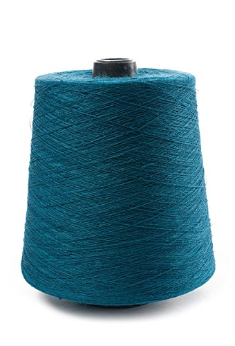 - Linen Yarn Cone - 100% Flax Linen - One Pound Yarn - 1 LBS - Turquoise Blue Yarn - 3 PLY - Sewing Weaving Crochet Embroidering - 3.000 Yards - Flax Fiber