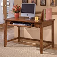 Cross Island H319-10 48 Home Office Small Leg Desk with Tapered Legs and Stretchers in Medium Brown
