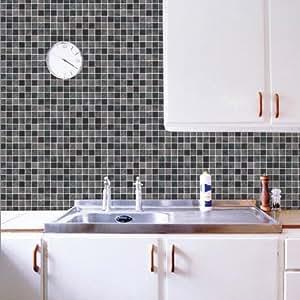 Marca cl sica pegatina mosaico ba o 50cm 50cm pared del for Pegatinas baldosas cocina