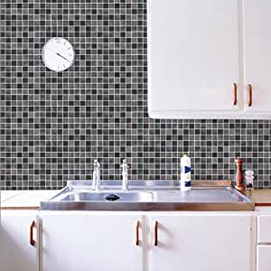 Marca cl sica pegatina mosaico ba o 50cm 50cm pared del ba o de azulejos adhesivos pegatinas - Pegatinas para azulejos ...