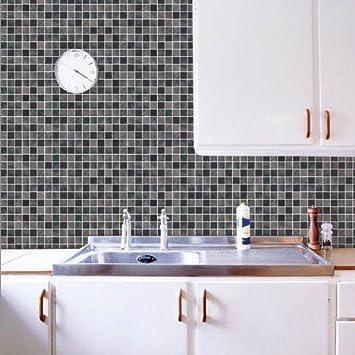 Marca clásica pegatina mosaico baño 50cm * 50cm pared del baño de ...