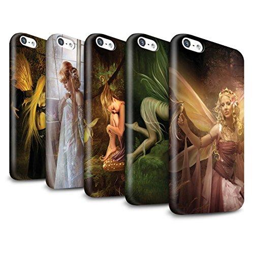 Officiel Elena Dudina Coque / Clipser Brillant Etui pour Apple iPhone 5C / Pack 10pcs Design / Fées Élégantes Collection
