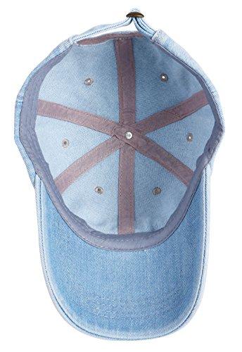 21bceefdf46 Choomon Unisex Low Profile Plain Dad Hat Denim Baseball Polo Cotton ...