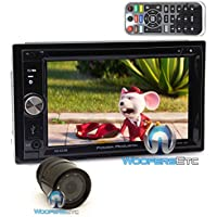 Power Acoustik PD-625B In-Dash 2-DIN 6.2 Touchscreen DVD Receiver with Detachable LCD and Bluetooth 4.0 with XO Vision HTC36 Backup Camera with Nightvision